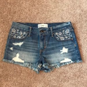 Abercrombie Kids Distressed Cut offs